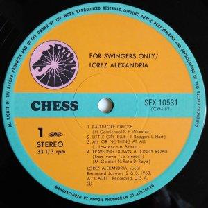 画像2: Lorez Alexandria - For Swingers Only