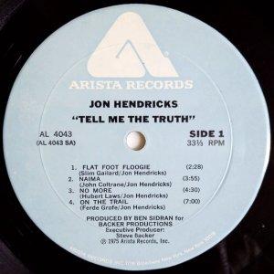 画像2: Jon Hendricks - Tell Me The Truth