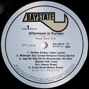 画像2: Kenny Drew Trio - Afternoon In Europe